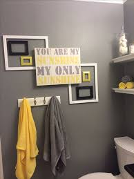 Kitchen And Bath Decor Prodigious 40 Best Yellow Grey Bathroom Images On Pinterest 5