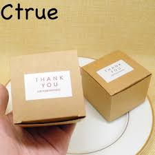 12PC Kraft Paper Candy Box Hemp Rope Thank You Gift Tags Vintage Rustic Wedding Party Supplies Baby Shower Favors Souvenirs In Bags Wrapping