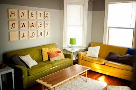 Diy Wall Art Ideas For Living Room Gray Curtain Wide Glass Window Rustic Coffee Table