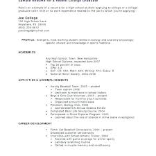 Work Experience Resume Examples Sample With No College Student Regard