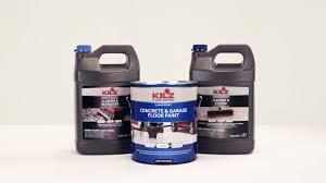 Behr Garage Floor Coating by Kilz Concrete U0026 Garage Floor Paint Product Information Youtube