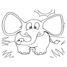 Elephant Running Elmer Patchwork Coloring Pages