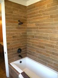 wood look tile bathroom ideas accent wall images shower bathrooms