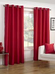 Faux Silk Eyelet Curtains by Red Faux Silk Eyelet Curtains Pair Albergo Collection Homefords