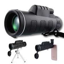 40x60 Zoom Optical Lens Monocular Telescope Clip Tripod For