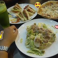 Pizza Caesar Salad Sandwich