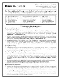 Plant Manager Resume Examples Engineering Production