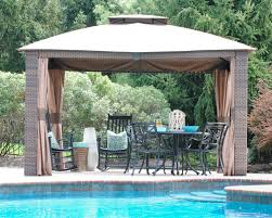 Outdoor Woven Wicker Gazebo - The Chronicles Of Home Outdoor Affordable Way To Upgrade Your Gazebo With Fantastic 9x9 Pergola Sears Gazebos Gorgeous For Shadetastic Living By Garden Arc Lighting Fixtures Bistrodre Porch And Glamorous For Backyard Design Ideas Pergola 11 Wonderful Deck Designs The Home Japanese Style Pretty Canopies Image Of At Concept Gallery Woven Wicker Chronicles Of Patio Landscaping Nice Best 25 Plans Ideas On Pinterest Diy Gazebo Vinyl Wood Billys