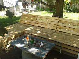 Inspiring Pallet Patio Furniture Plans Diy Outdoor Sectional 99 Pallets