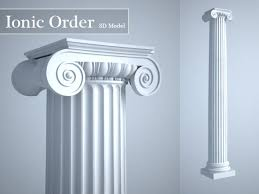 Grecian Ionic Order Column High LOD model by Mcneels