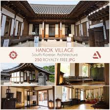 100 South Korean Houses Photo Reference Pack Hanok Village