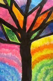Art Is Basic Teacher Blog Abstract Oil Pastel Trees 4th
