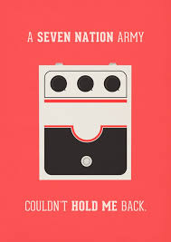 Series Of Posters Featuring Memorable Pop Music Quotes And The Iconic Pieces Gear Related To Them