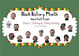 Black History Month Important People Posters Coloring And Writing FREEBIE Activities Printables For Pre K Kindergarten First Grade