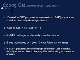 coping cat treatments for anxiety ppt