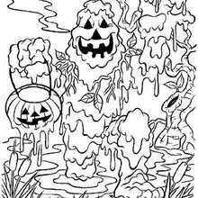 Halloween Mud Monster Coloring Page
