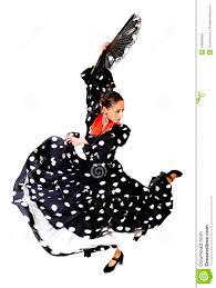 spanish woman dancing sevillanas wearing fan and typical folk