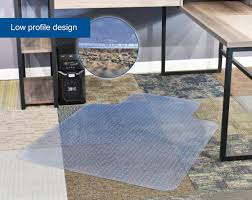 Foam Tile Flooring Sears by Mat C 047 Vivo Clear Computer Chair Protective Carpet Floor Cover