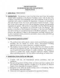 resume for firefighter paramedic cover letter industry descriptions extraordinary nursing