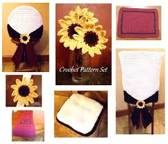 Dining Pattern , Sunflower Set, Chairback Cover, Garnet Table Runner, Chair  Cushion, Placemat, Sunflower Vase, Napkin Ring, Downloadable Us 125 28 Offsunnyrain 1 Piece Cotton White Crochet Table Cloth Christmas Tablecloth For Ding Rectangle Crocheted Coffee Coverin Free Runner Or Pattern And Small Things Diy Ontrend Chair Socks 26 Creative Rug Patterns Allfreecrochetcom 62 The Funky Stitch Back Covers By Cara Medus Diagram Ja001 Annies Attic 1992 Crochet Romantic Ding Room Vol Ii Ebay Chair Cover Pattern Seat Sacks Pockets Ding China Lace Vintage Large Floral Cover Wedding