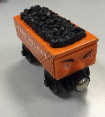 fred pelhay coal car thomas and friends wooden railway rare 2003