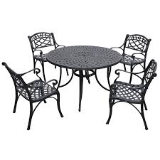 Crosley Furniture Sedona 48-Inch Five Piece Cast Aluminum Outdoor Dining  Set With Arm Chairs In Black Finish Zuo Mayakoba White Stationary Alinum Outdoor Ding Chair 2pack Best Patio Fniture And Metal Garden Table Folding Lofty Clearance Epic Wrought Iron Sets Chair Lisa White Breeze Ding Chair Shiaril 5 Pc And Navy Set Setting Chairs Wicker Room Resin Modern Cushions Of 20 High Gloss By Andre Putman For Emeco Mamagreen Sr Hughes Grace 6 Seater Warehouse