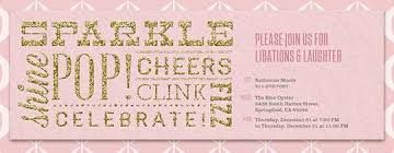 Glitter Font Blush Invitation