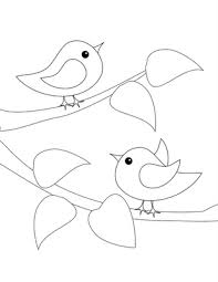 Simple Birds Applique Or Embroidery Pattern