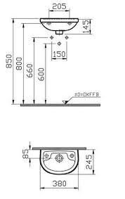 diana plus vitra compact handwaschbecken 38cm di003332001