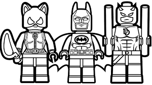 Lego Batman And Catwoman Daredevil Coloring Book Pages Kids Fun Art