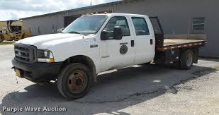 2003 Ford F550 Crew Cab Flatbed Truck | Item DB7414 | SOLD! ...
