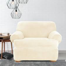 Armless Slipper Chair Slipcovers Sure Fit Stretch Plush Cream T ... Simple Barrel Chair Slipcovers Homesfeed Slipcover Makeover For Outdated Ethan Allen Things I Want To Fniture Entrancing New Roll Squire Parsons With Classic Accsories Veranda Adirondack Patio Cover Wing Chair Slipcover Innovationsglobalclub Cheap Recliner Find Deals On Line Subrtex Jacquard Ding Room Sets Stretch Protector Covers Armchair Removable Washable Elastic Seat Case Sure Fit Ultimate Chenille To Renew Old Look Of Chairs Darcy Only Slipcovers With Arms Ikea Home Decators Collection Mayfair Velvet Plush