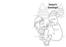Free Printable Christmas Cards Coloring Pages 503191 For 2015