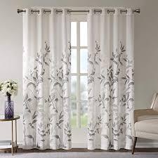 gardinen schals voile vorhänge mit ösen ösenschal ausbrenner schlafzimmer vorhang für kleine fenster cecily kurz 2er set je 175x140cm