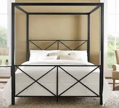 Queen Bed Rails For Headboard And Footboard by Dhp Rosedale Modern Romance Metal Queen Canopy Bed Frame In Black