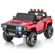 100 Stylin Trucks Hummer Style 12V 2 Seat Remote RC Ride On PickUp Truck WRubber