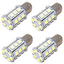 4x hqrp ba15d 5050 smd white led bulbs 12v 24v boat marine light