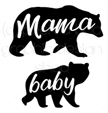 Mama Bear And Baby SVG Cut File