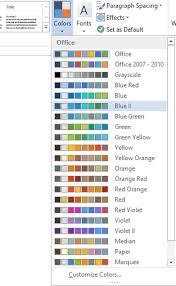Customize Change Theme color Default font in Microsoft fice