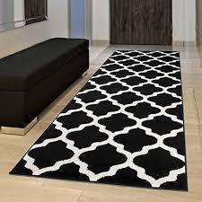 teppiche teppichböden läufer teppich schwarz weiß modern