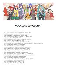 VOCALOID SONGBOOK About 24 Songs So Far Sheet Music For Piano Download Free In PDF Or MIDI