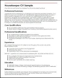Housekeeper Duties Description For Resume Nanny Responsibilities On