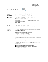 Telecom Engineer Cv Best Picture Telecom Engineer Resume Format