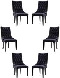 casa padrino luxus barock esszimmer stuhl set lila schwarz gold 54 x 55 x h 110 cm edle küchen stühle mit samtstoff barock stühle 6er set
