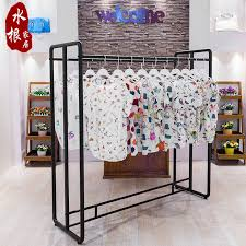 Creative Iron Floor Clothing Rack Store Display Racks In The Island Shelf Hangers