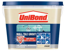 Blue Hawk Premixed Vinyl Tile Grout Directions by Unibond Cream Ready Mixed Grout W 1 38kg Departments Diy At B U0026q