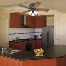 top photo of small kitchen ceiling fan with light kitchen lighting