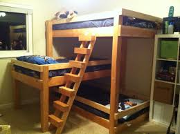 bedroom build triple bunk bed free plans homemade bunk beds
