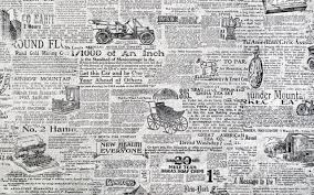 3d Wallpaper For Room Retro Black And White Newspaper Background Wall Decoration Painting Custom