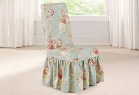 Ballad Bouquet By Waverly Long Dining Chair Slipcover | 100% Cotton |  Machine Washable Ding Room Chair Covers From Pillowcases Jackie Home Ideas Serta Reversible Stretch Suede Slipcovers Short Skirt Parsons Chair Slipcovers Miss Mustard Seed Decor Beautiful Parsons Hd For Your Clothman For Printed Elastic Antistain Removable Washable Fniture Protector Linen Uk Chairs Kitchen And Tie Back And Corseted A Fun Way To Dress Up Sew Design Teal How Make A Custom Slipcover Hgtv Slipcover Tutorial How Make Set Of 2 High Elasticity Flowery